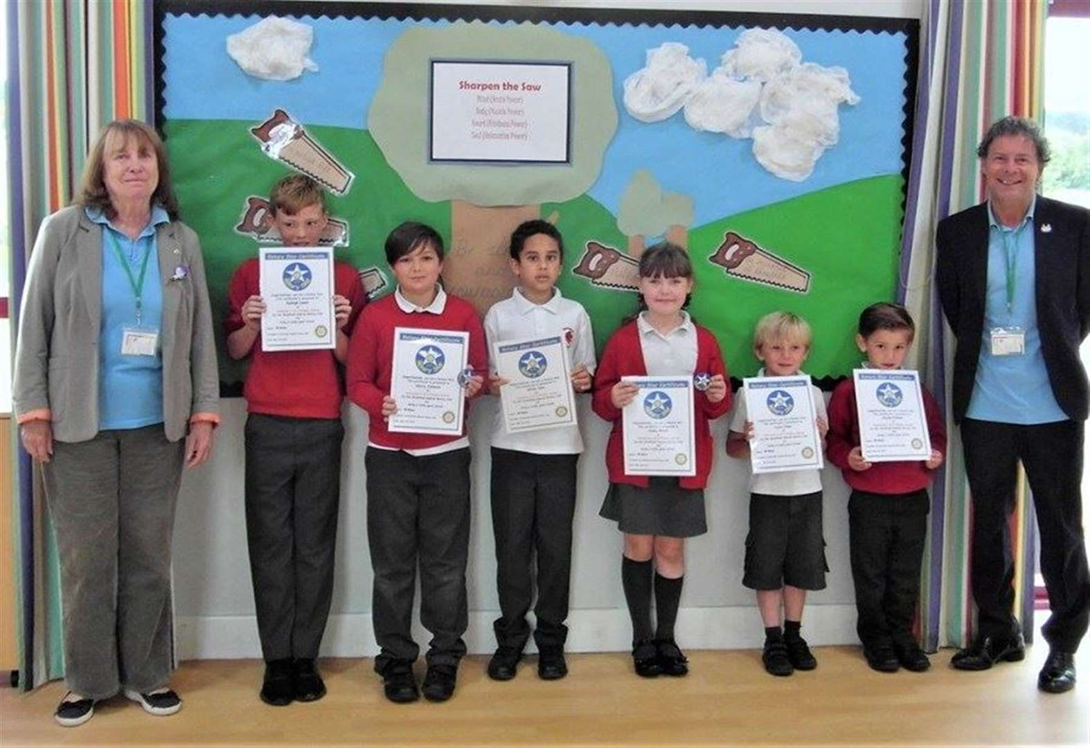 Grantham pupils reach for stars for Rotary award