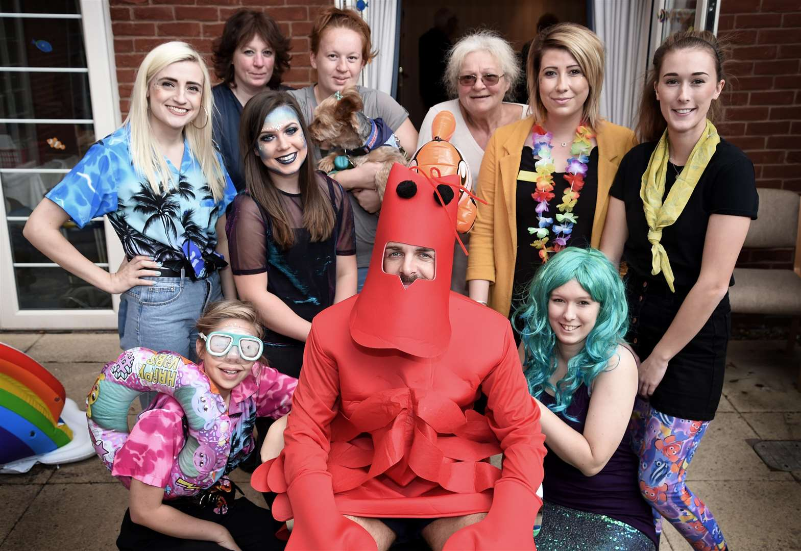 Mermaids join in summer fete at Grantham's Avery Lodge care home