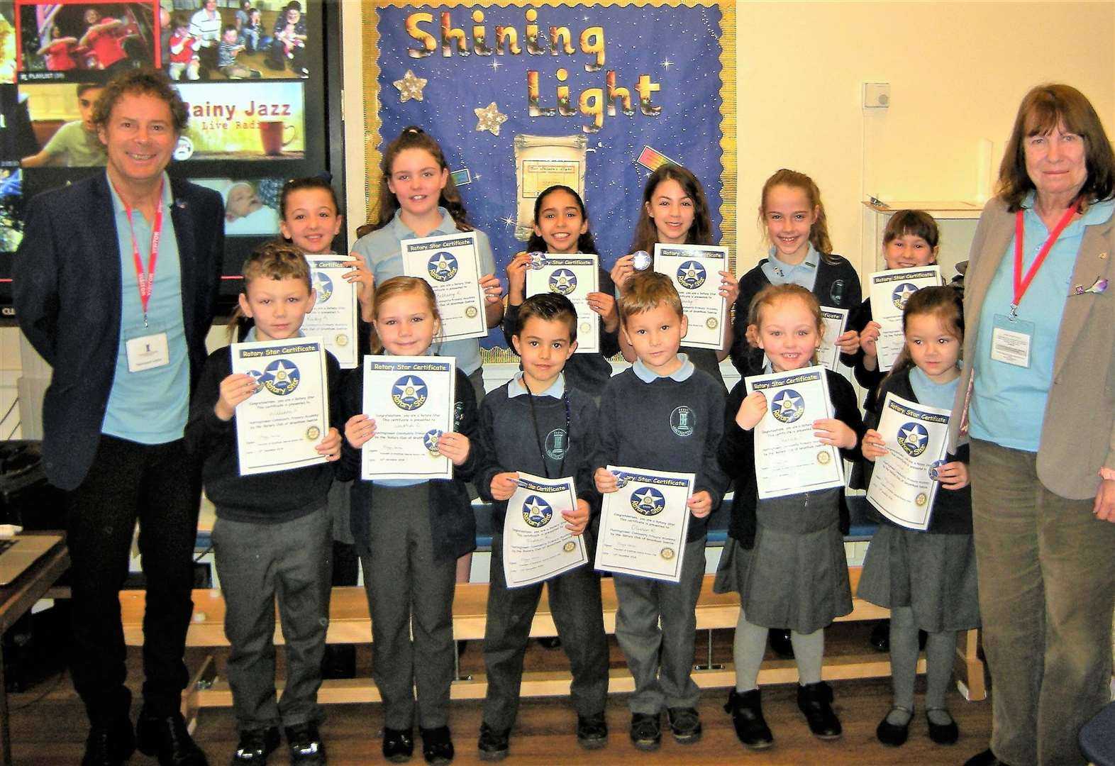 Grantham pupils reach for the stars for Rotary award