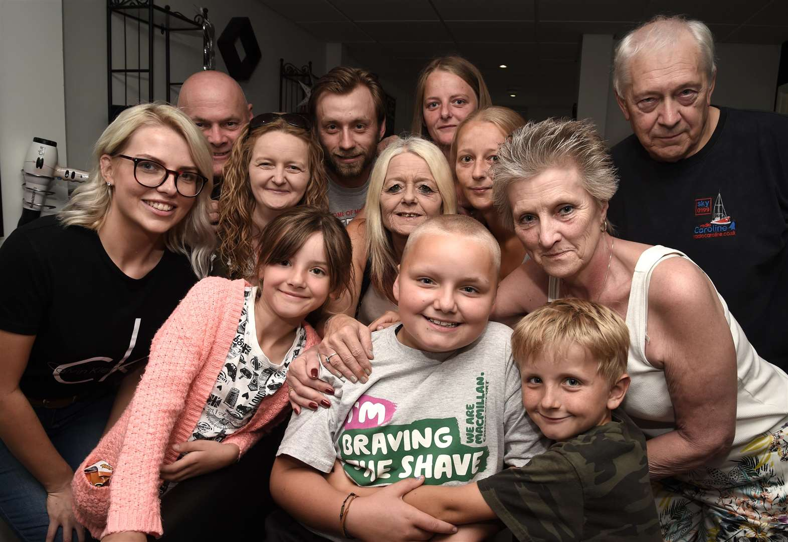 Grantham schoolgirl shaves hair in tribute to Nana Lottie