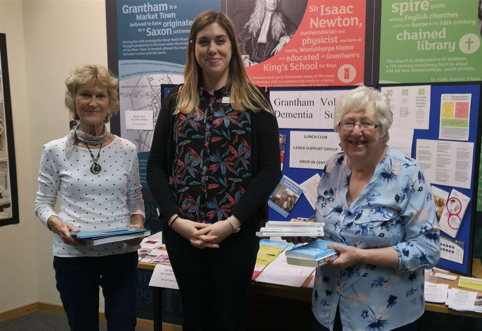 Dementia books donated to library to boost awareness of disease
