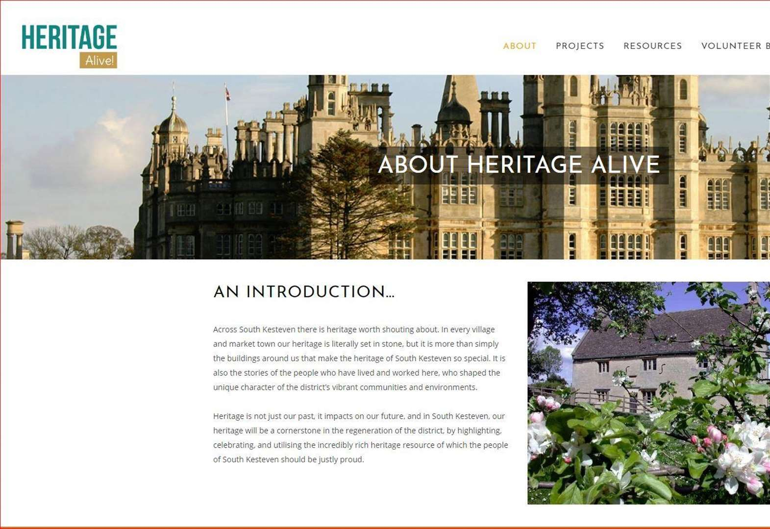Call to create community as heritage comes alive in South Kesteven website