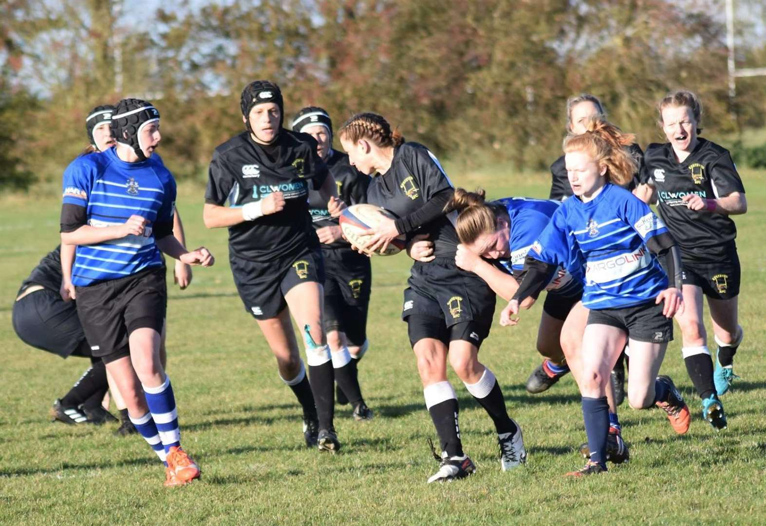 Ladies' Black Army takes on Long Eaton.