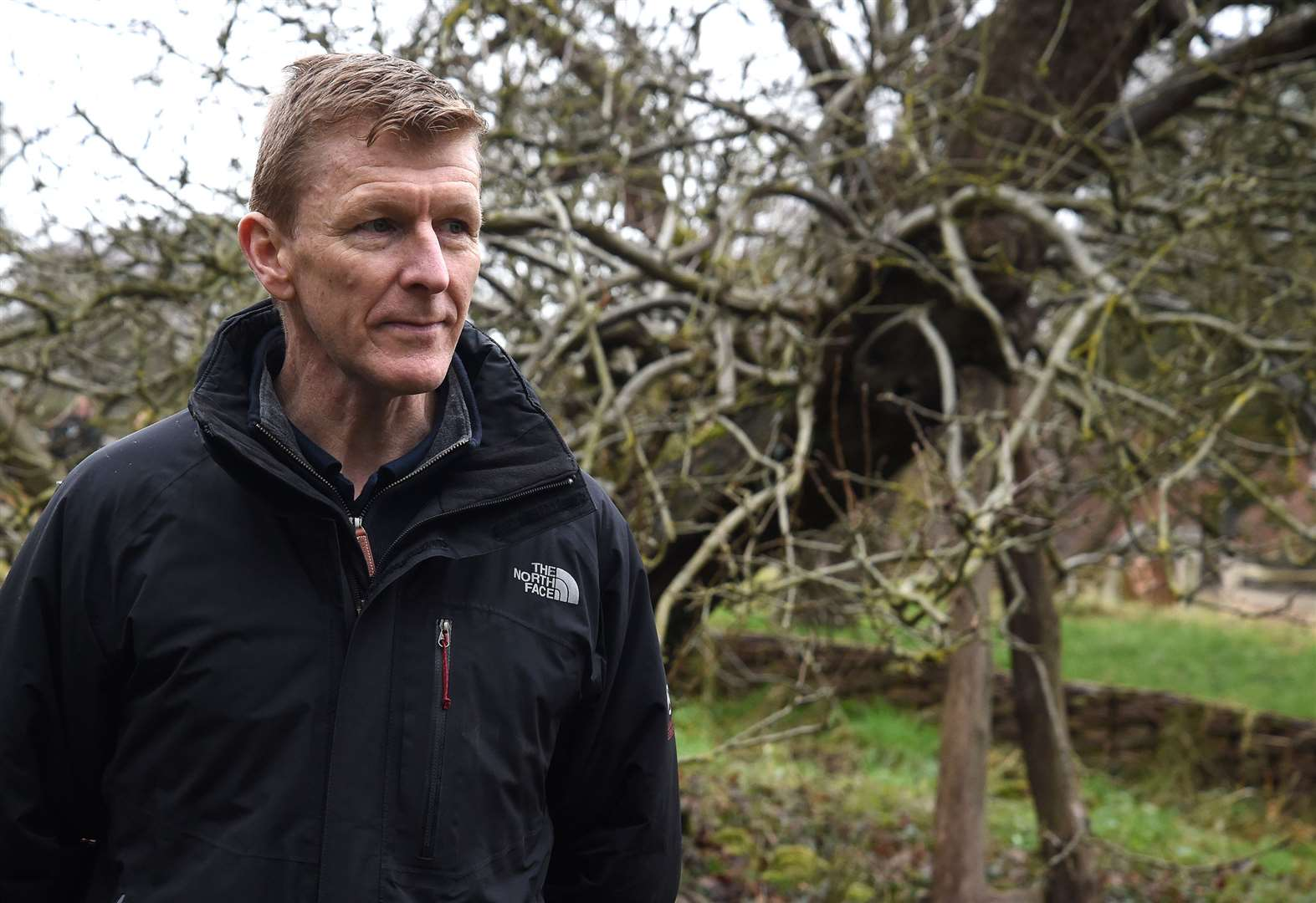 British astronaut Tim Peake visits Woolsthorpe Manor to award 'space saplings' to competition winners