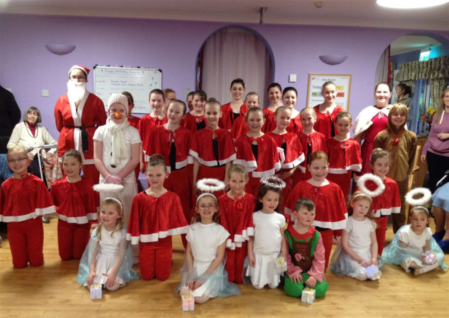 Young Grantham dancers provide Christmas cheer at five care homes