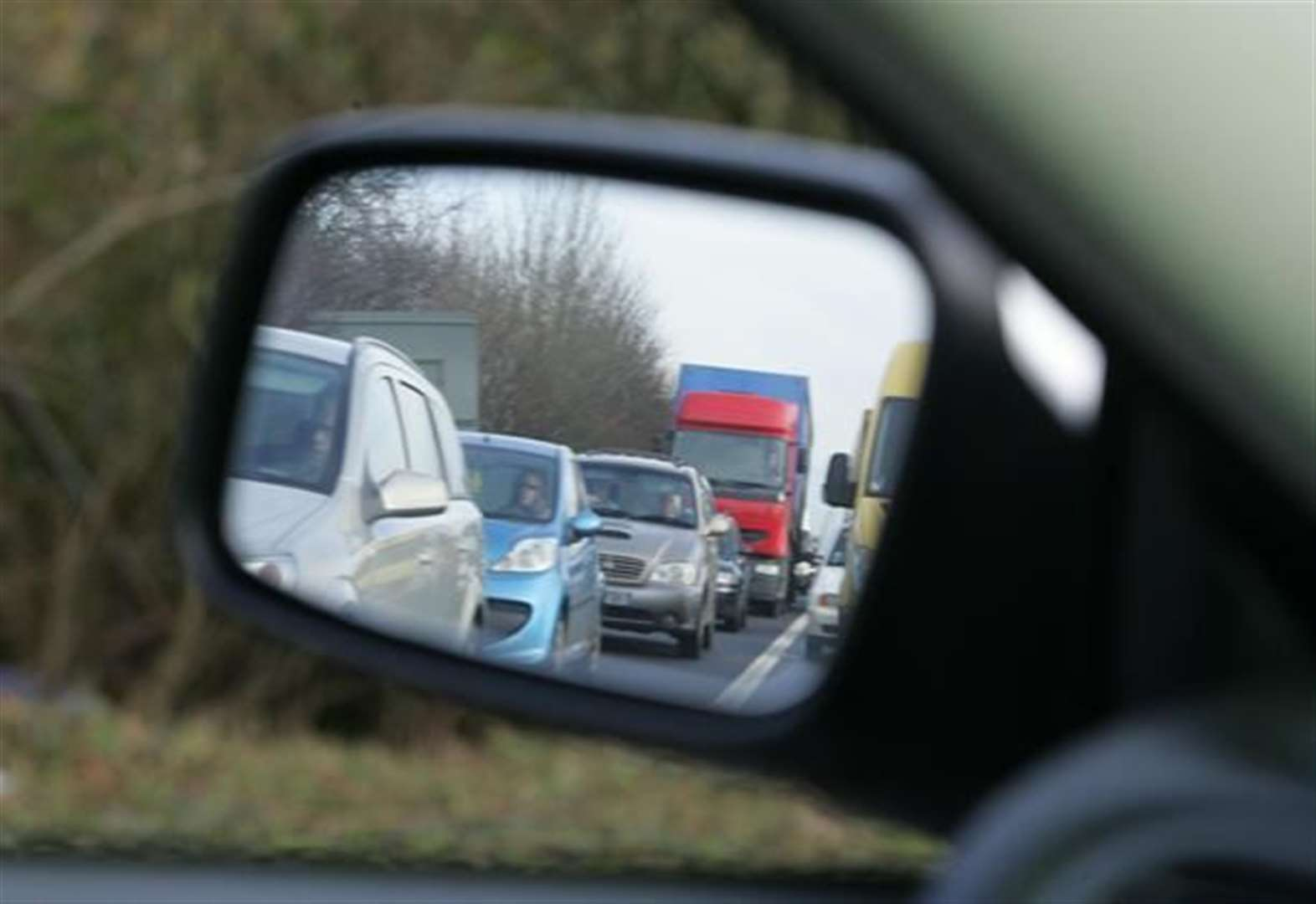 A1 at standstill at Grantham following crash