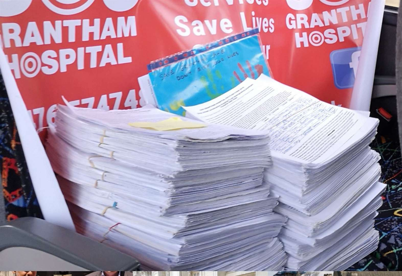 Campaigner presents petition containing more than 33,000 on-line signatures against Grantham A&E overnight closure