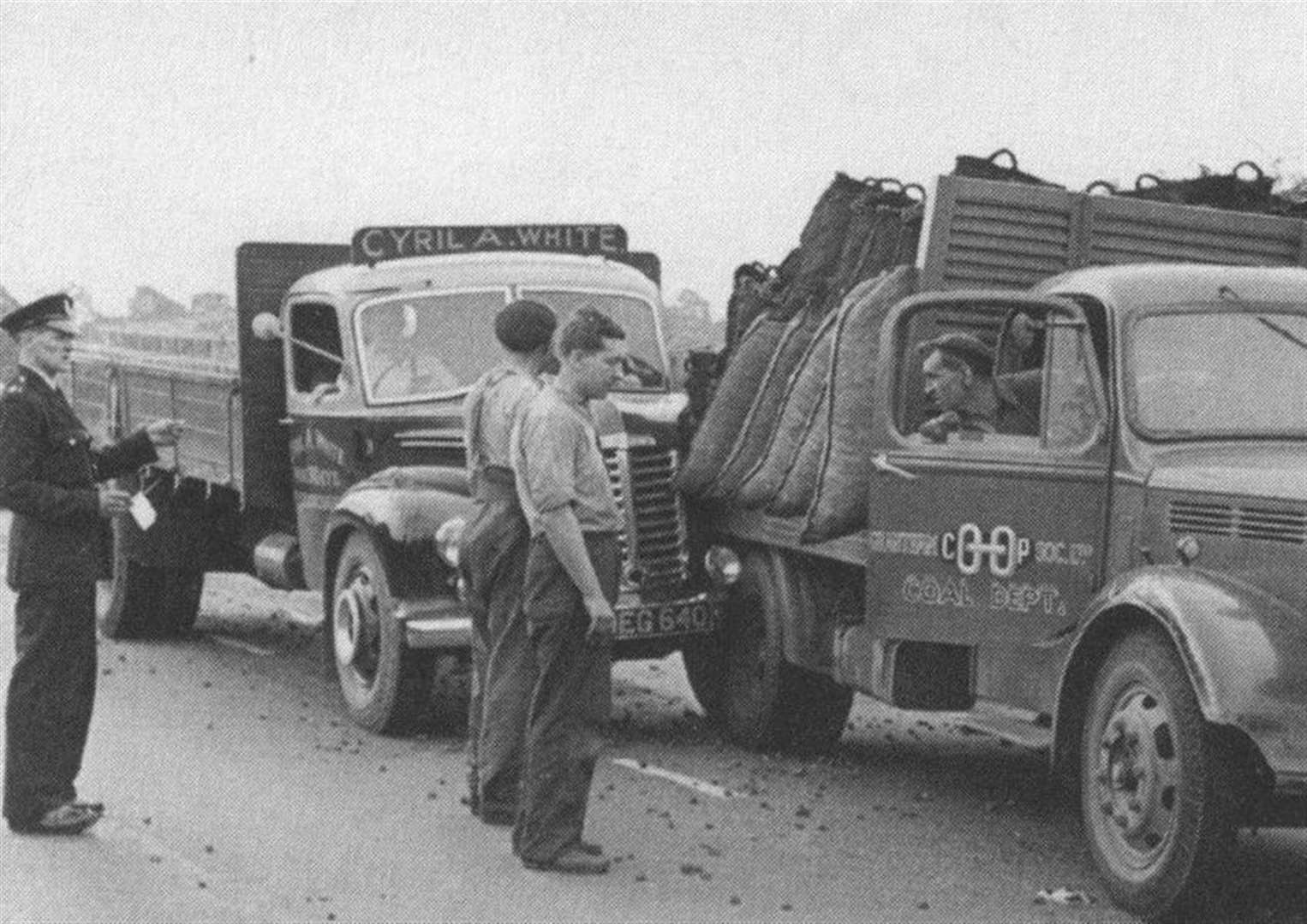 MEMORY LANE: Lorries crashed in '50s, whilst new cars raced in the '60s