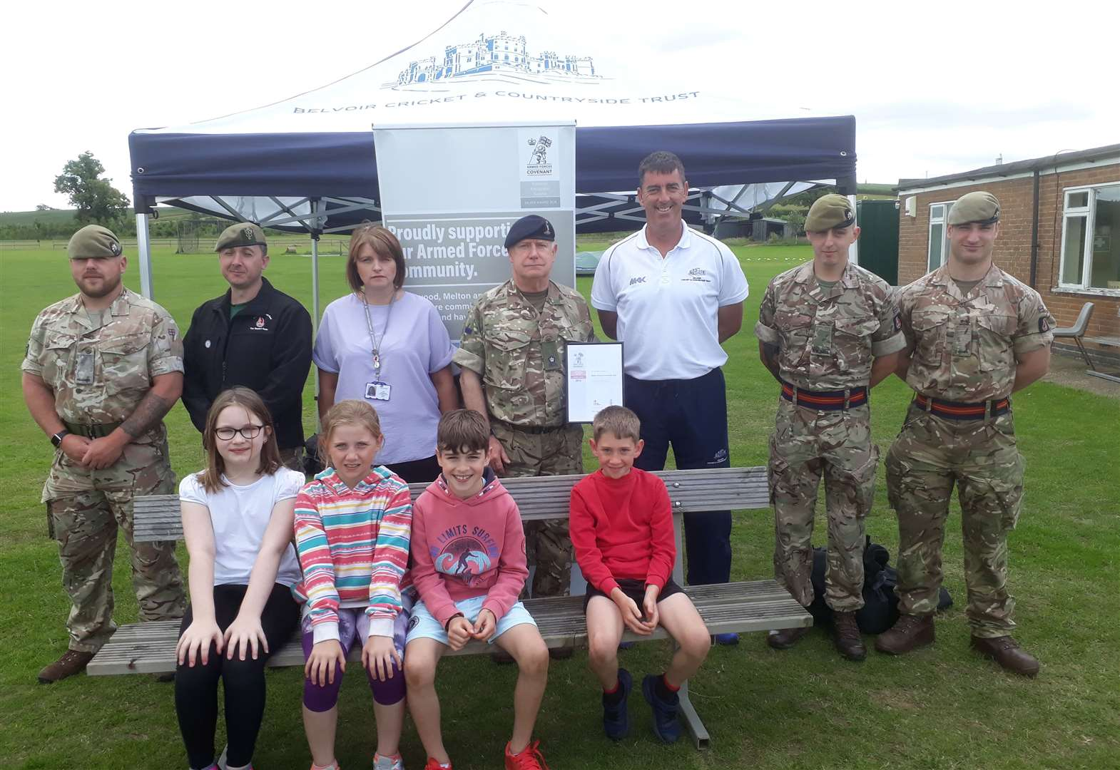 Belvoir Cricket and Countryside Trust join forces with army