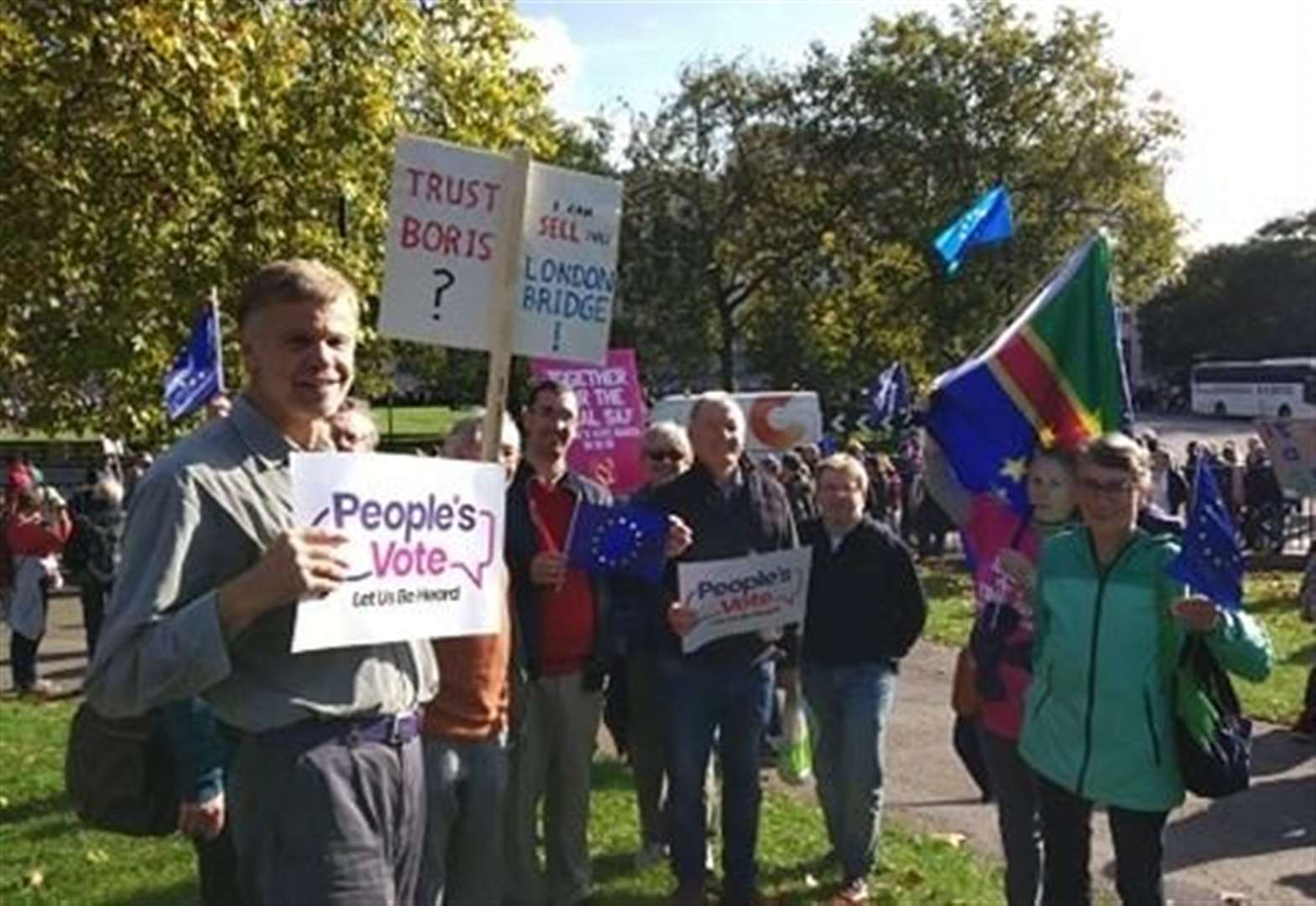 Grantham 'remainers' join national demonstration in London