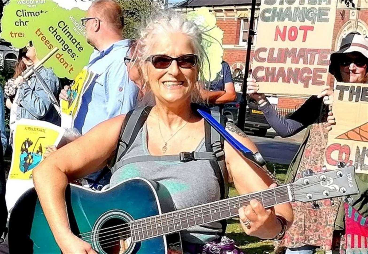 Climate protesters gather in Grantham