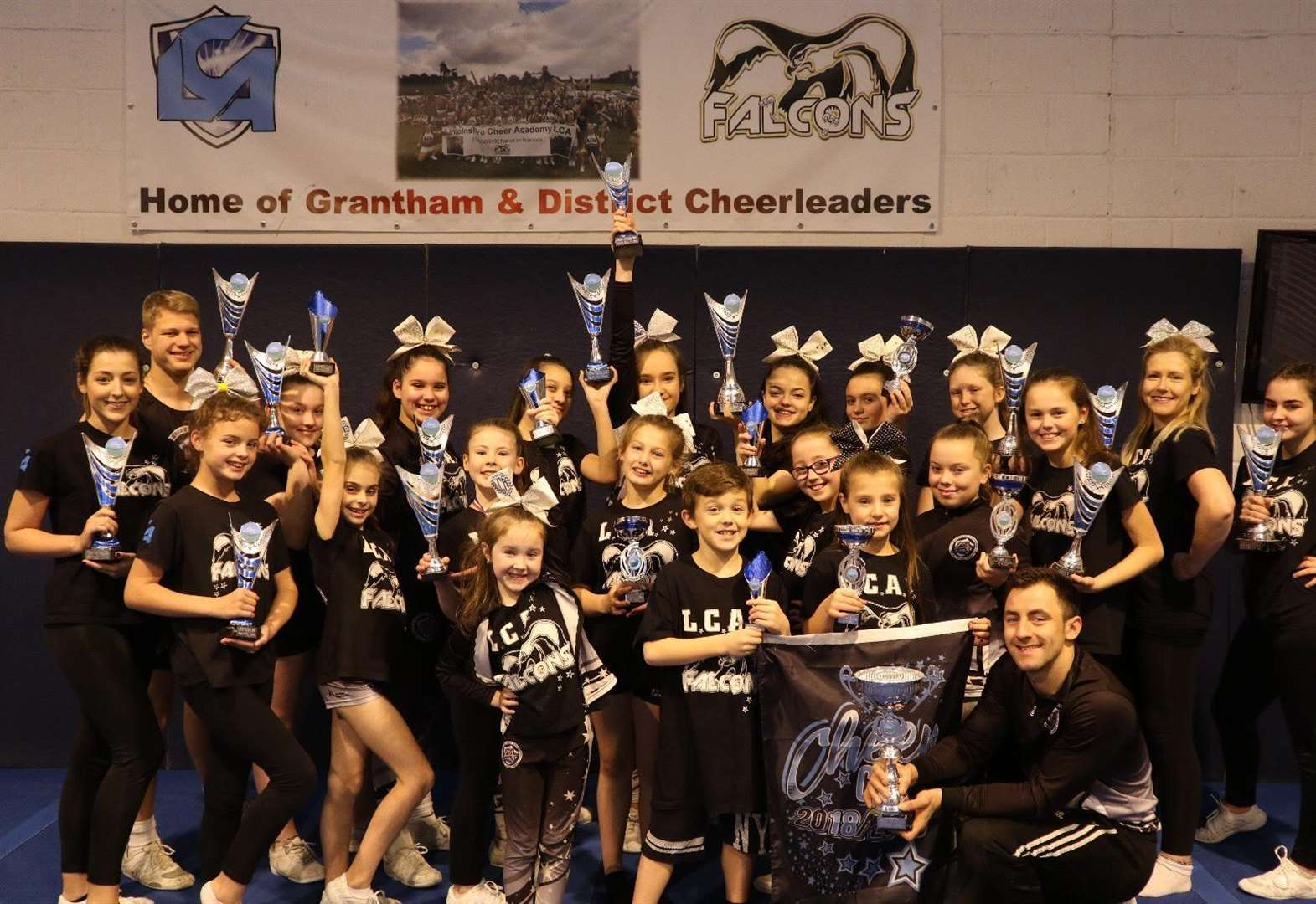 Grantham cheerleaders win haul of trophies at festival