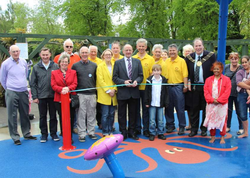 The paddling pool in Wyndham Park, Grantham, opened earlier this month.