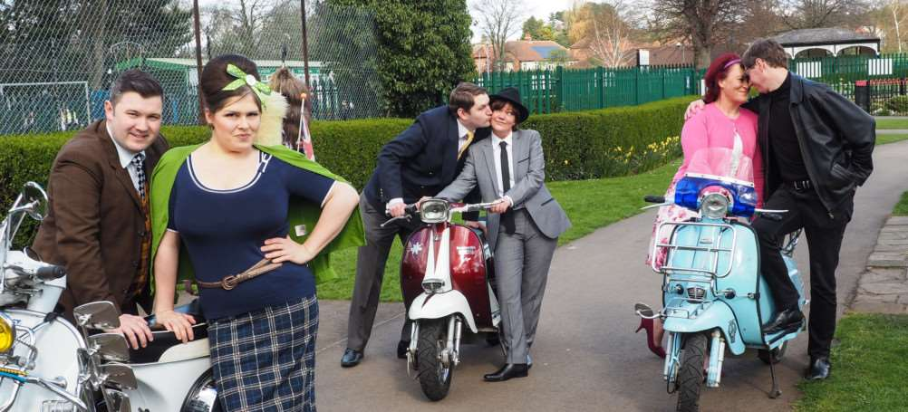 Some of the cast of GDS' production of 'One Man, Two Guvnors'.