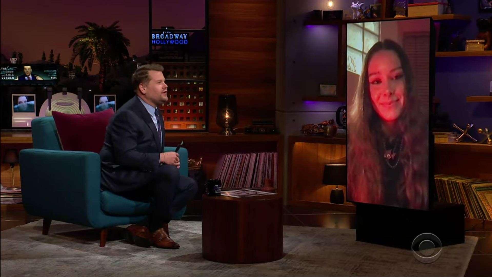 Holly Humberstone foi entrevistada por James Corden.  (44836189)
