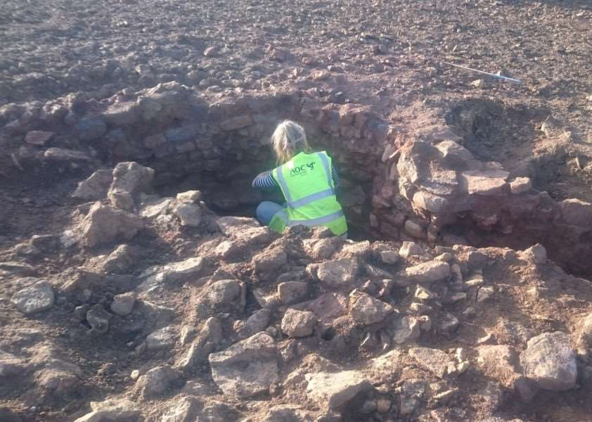 Excavation of a large possible Kiln