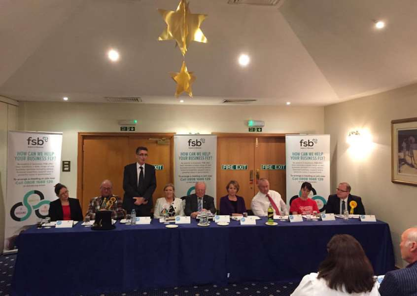 Hustings event held by the FSB was attended by eight of the 10 candidates standing for the Sleaford and North Hykeham seat.