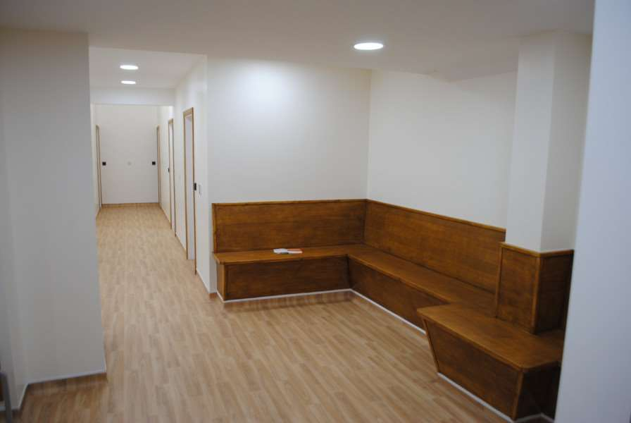 A new waiting room at the Vine House Surgery in Grantham which used to be a consulting room and before that a boiler room.