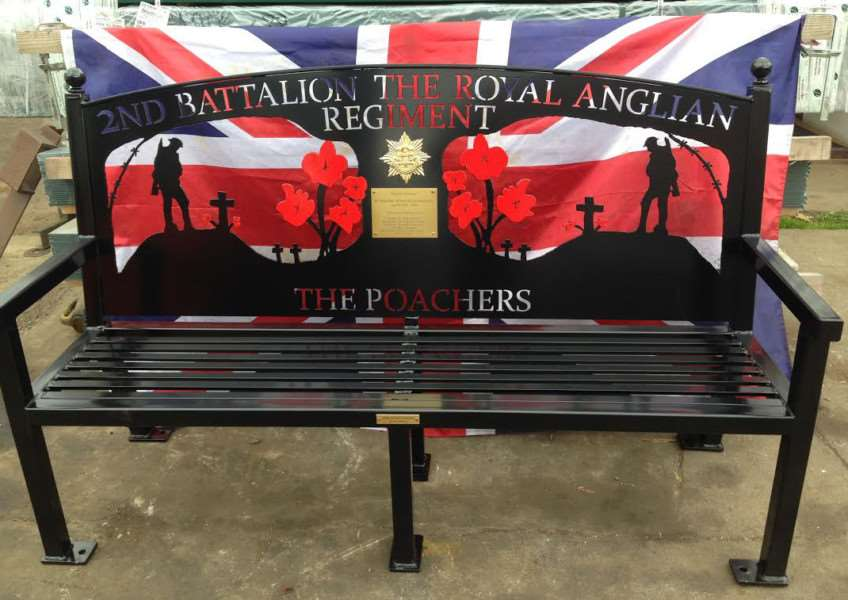 The bench in memory of Nick Peacock.