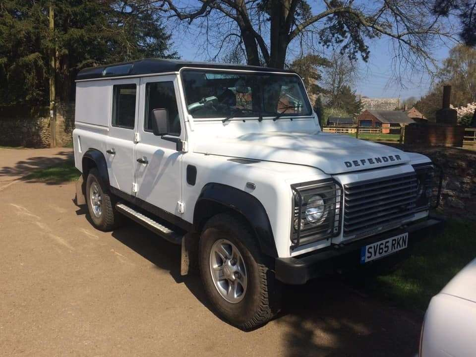The Land Rover Defender stolen in Skillington. (16276509)