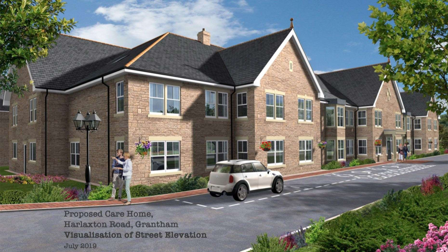 How the care home will look if approved for the site of the former magistrates court in Grantham. (23252400)