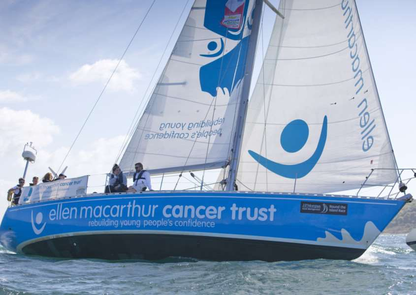 Sailing with the Ellen MacArthur Cancer Trust. PHOTO: onEdition
