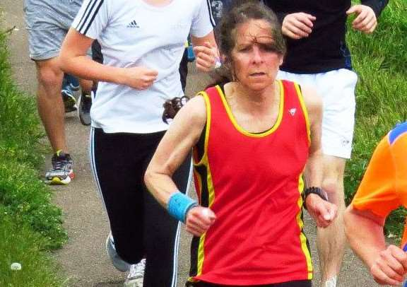 Parkrun personal: Janice Anderson. Photo: Richard Knibb