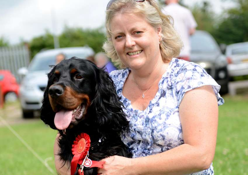 Amanda Burton and Bently came first at last year's Dysart Park Family Fun Day