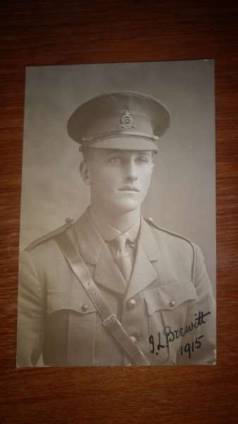 Former King's School student James Leonard Brewitt who died December 1 1917, aged 23.
