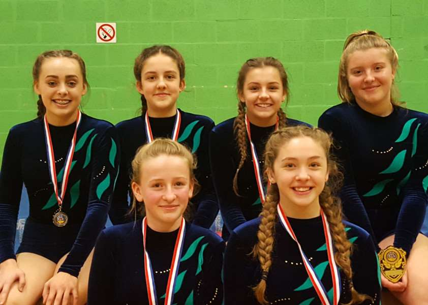 Under -16 runners-up Walton Girls.
