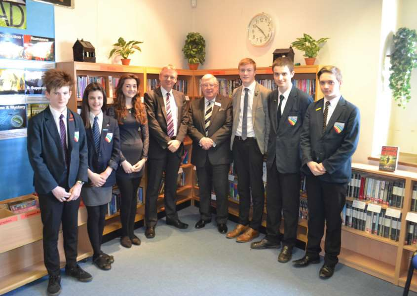 Sir William Robertson Academy, Cameron Coles, Alicia Arnold, Libby Arnold (Head Girl), Mr Guest, Ven Brian Lucas, Tom Lane (Head Boy), Philip Balicki and Matthew Young EMN-150807-101224001