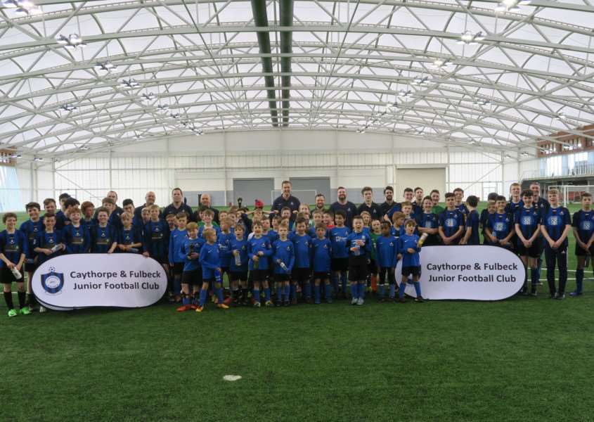 Caythorpe and Fulbeck JFC at the National Football Centre.