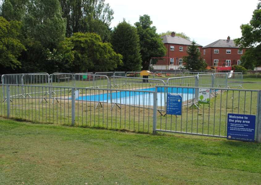 Dysart Park's pool is currently fenced off.