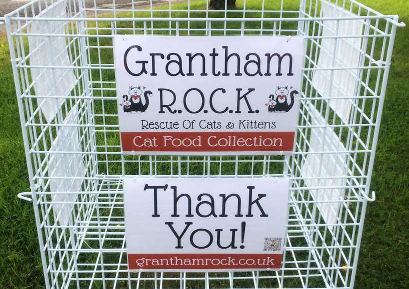 Can you find a place to put the Grantham ROCK appeal bin?
