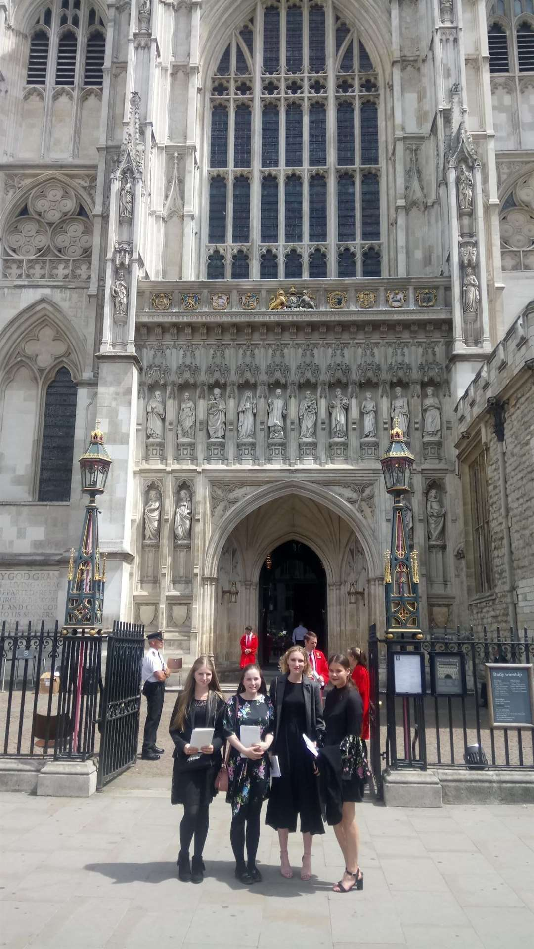 Four sixth form students from Walton Girls' High School attended the Service of Thanksgiving at Westminster Abbey on Friday. (2573084)
