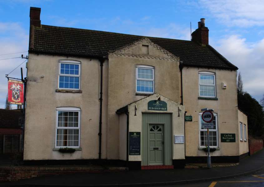 The Thorold Arms in the centre of Marston. EMN-160322-170517001