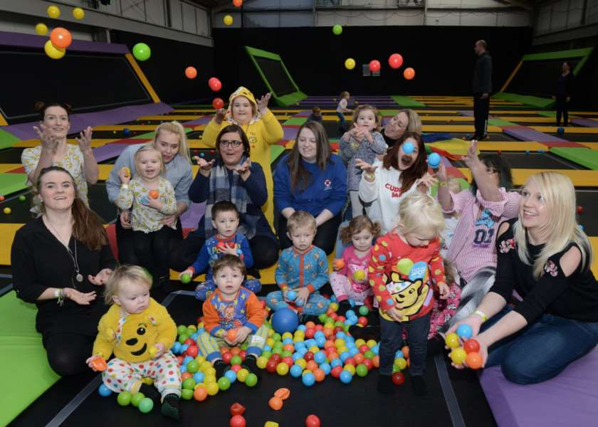 Jump Revolution held a pyjama party during their toddler session on Friday.