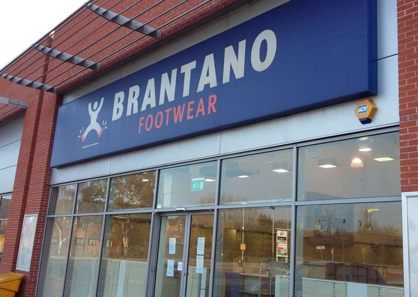 Brantano in Grantham has closed down.