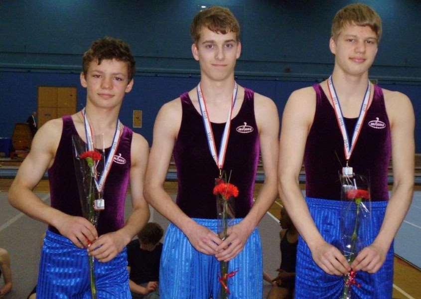 King's School under-19s, from left - Ryan Champion, Tom Wharmby and Daniel Watson. Not pictured is Jacob Armstrong.