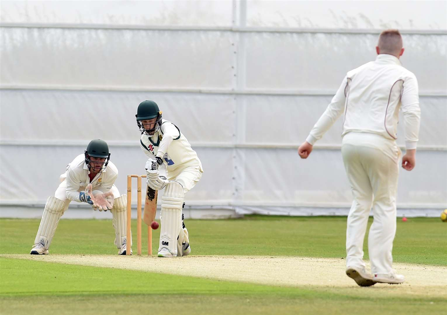 Jaden Fell at the crease for Grantham 2nd XI. (14953682)