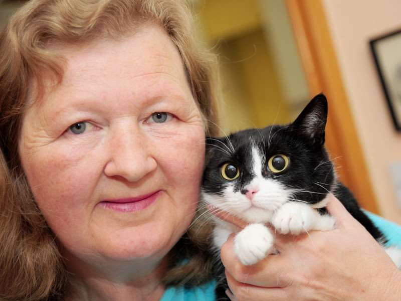 Cath Rowson of Grantham Rescue Of Cats & Kittens (ROCK).