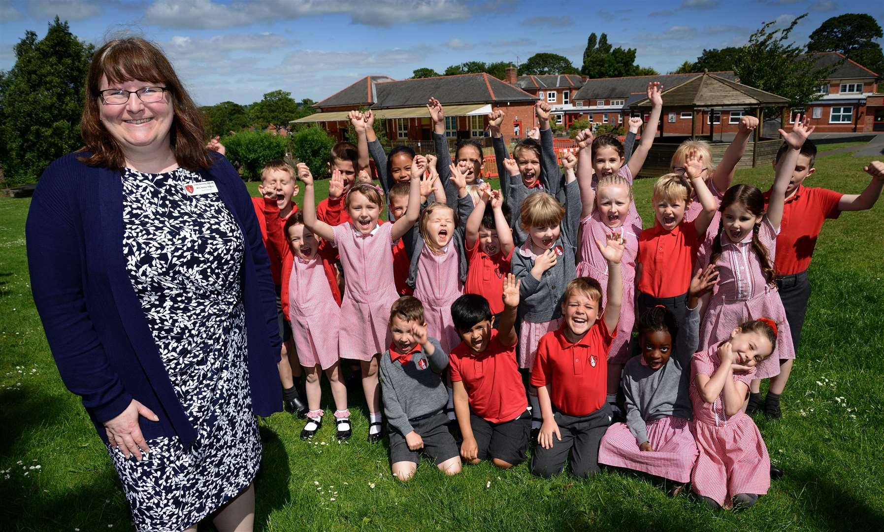 Children at Little Gonerby are celebrating with head teacher Helen Hilton. (11642888)