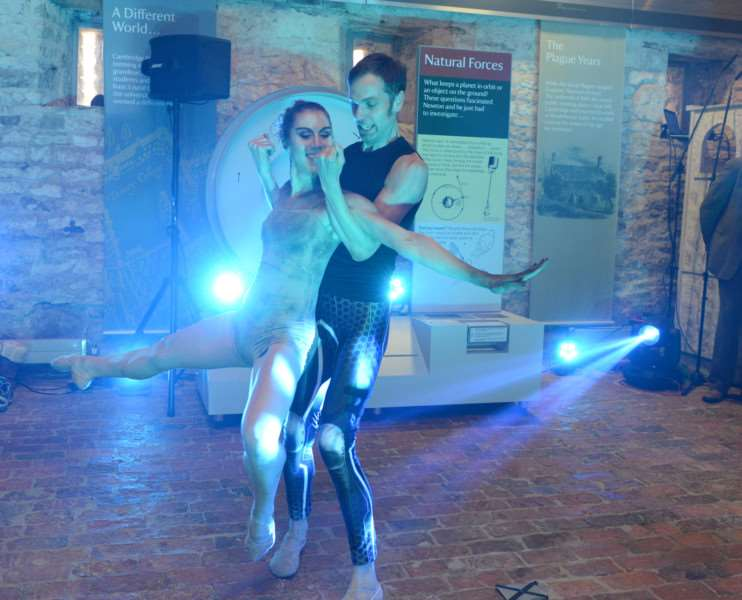 Paul Chantry and Rae Piper gave a dance demonstration at the launch of the Gravity Fields Festival. Photo: Toby Roberts