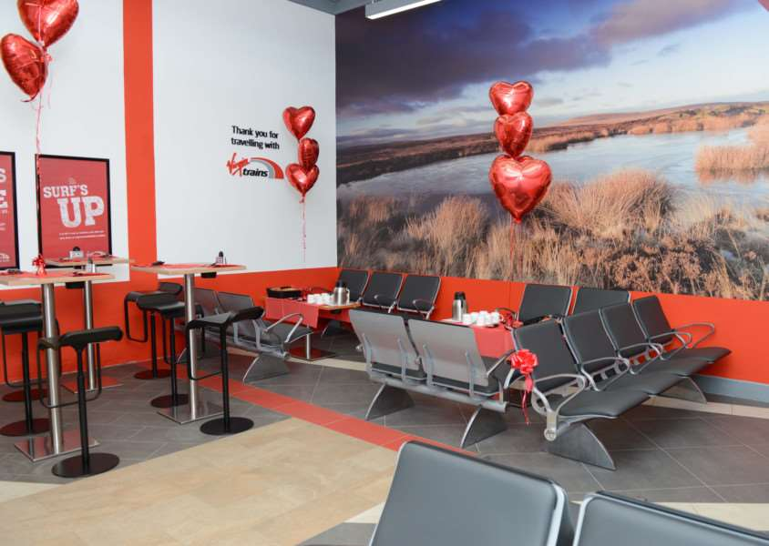 The new Virgin Trains passenger lounge at Grantham railway station. Photo: Toby Roberts