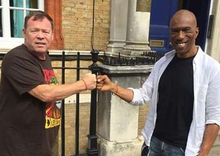 John Johnson (right) pictured here with Ali Campbell from UB40.