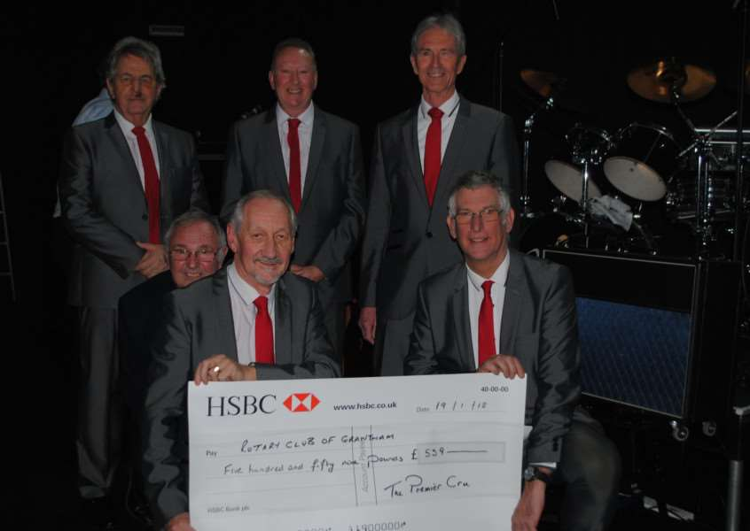 Premier Cru donated over �500 to the Rotary Club of Grantham.