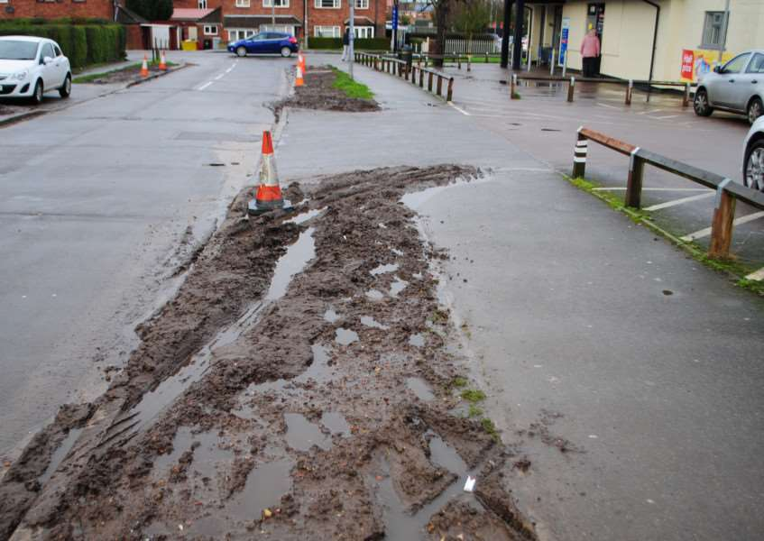 The repaired verges outside Tesco Express in Keats Avenue, Grantham, have been ruined again.