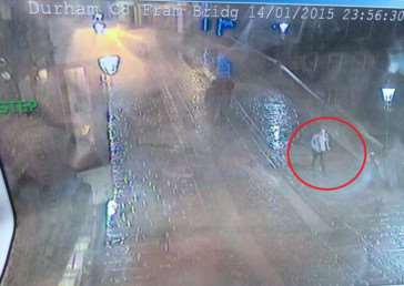 Euan Coulthard was captured on CCTV late on Wednesday night.