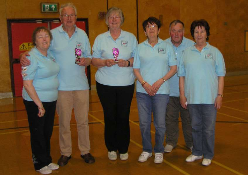 South Witham Kurling Club members, from left - Ilona Franz, Ken Reader, Maureen Reader, Shirley Fisher, Peter Hempsall and Margaret Wilkinson.