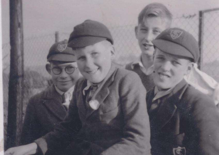 Memory Lane: Spitalgate schoolboys in the 1940s. Photo courtesy of Michael Matsell.